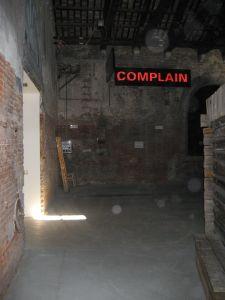 A complaint sign